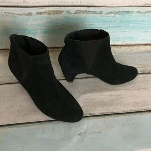 SAM EDELMAN Ankle Booties Black Suede Leather